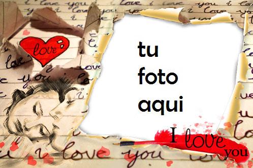 Carta De Amor Marco Para Foto - Carta De Amor Marco Para Foto