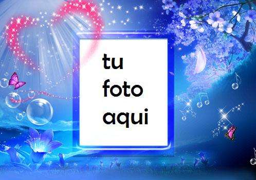 Corazones Y Amor En El Cielo Marco Para Foto - Corazones Y Amor En El Cielo Marco Para Foto