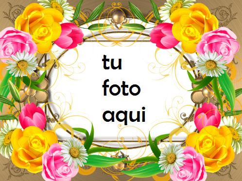 Eres Una Rosa En Medio De Flores Marco Para Foto - Eres Una Rosa En Medio De Flores Marco Para Foto
