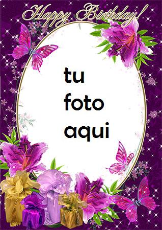 Feliz Cumpleaños Con Flores Marco Para Foto - Feliz Cumpleaños Con Flores Marco Para Foto