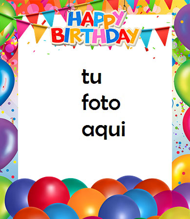 Feliz Cumpleaños Con Globos Y Decoraciones Marco Para Foto - Feliz Cumpleaños Con Globos Y Decoraciones Marco Para Foto
