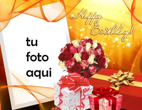 Feliz Cumpleaños Romántico Marco Para Foto - Feliz Cumpleaños Romántico Marco Para Foto