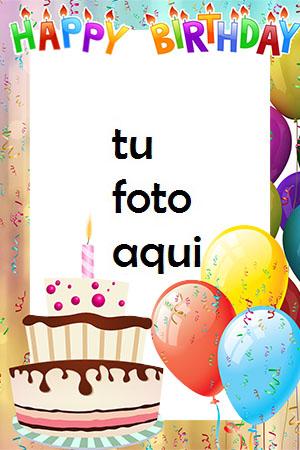 Pastel De Chocolate Feliz Cumpleaños Marco Para Foto - Pastel De Chocolate Feliz Cumpleaños Marco Para Foto