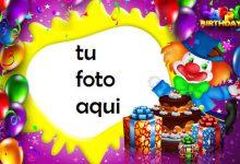 Payaso Con Pastel De Feliz Cumpleaños Marco Para Foto 220x150 - Payaso Con Pastel De Feliz Cumpleaños Marco Para Foto