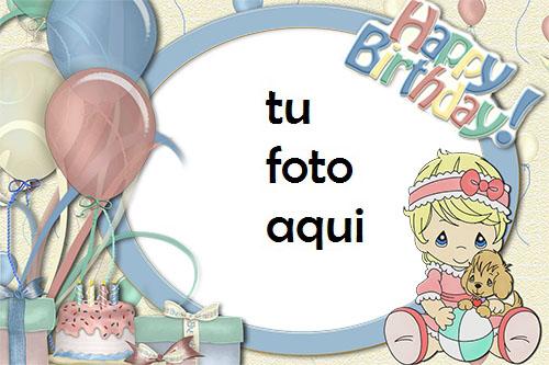 Tarjeta De Feliz Cumpleaños Niña Marco Para Foto - Tarjeta De Feliz Cumpleaños Niña Marco Para Foto