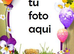Tarta De Cumpleaños Con Regalos Y Oso Marco Para Foto 298x220 - Tarta De Cumpleaños Con Regalos Y Oso Marco Para Foto