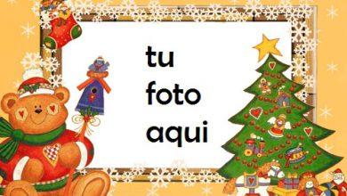 Árbol De Año Nuevo Con Un Adorable Osito De Peluche Saludos De Año Nuevo Marco Para Foto 390x220 - Árbol De Año Nuevo Con Un Adorable Osito De Peluche Saludos De Año Nuevo Marco Para Foto