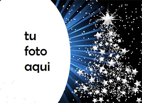 Árbol De Año Nuevo Hecho De Estrellas Marco Para Foto - Árbol De Año Nuevo Hecho De Estrellas Marco Para Foto