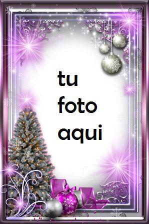 Año Nuevo Púrpura Brillo Marco Para Foto - Año Nuevo Púrpura Brillo Marco Para Foto
