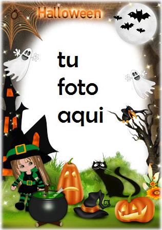 Ambiente Horrible De Halloween Marco Para Foto - Ambiente Horrible De Halloween Marco Para Foto