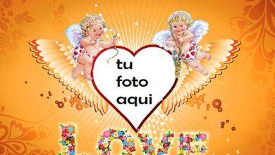 Angelitos De Amor Marco Para Foto 390x220 - Angelitos De Amor Marco Para Foto