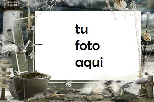 Antes De La Tormenta Del Mar Marco Para Foto - Antes De La Tormenta Del Mar Marco Para Foto