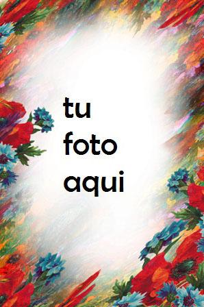 Artista de plumas de flores Marco Para Foto - Artista de plumas de flores Marco Para Foto