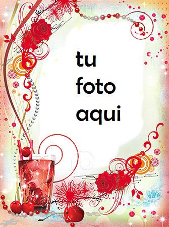 Bebida De Alegría Y Compromiso Marco Para Foto - Bebida De Alegría Y Compromiso Marco Para Foto
