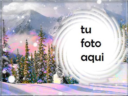 Bosque De Invierno Marco Para Foto - Bosque De Invierno Marco Para Foto