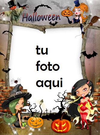 Brujas De Halloween Marco Para Foto - Brujas De Halloween Marco Para Foto