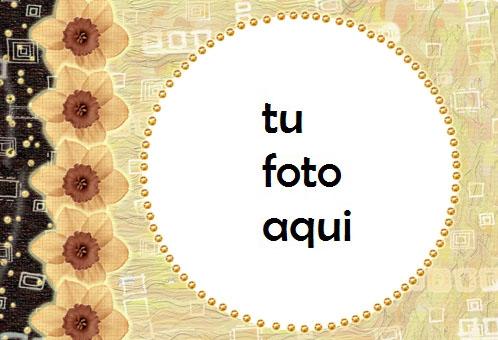 Círculo Amarillo Marco Para Foto - Círculo Amarillo Marco Para Foto