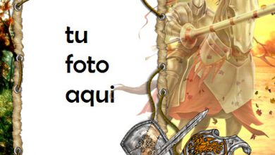 Caballero Medieval Marco Para Foto 390x220 - Caballero Medieval Marco Para Foto