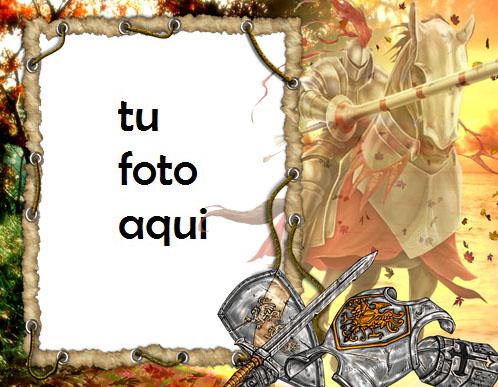 Caballero Medieval Marco Para Foto - Caballero Medieval Marco Para Foto