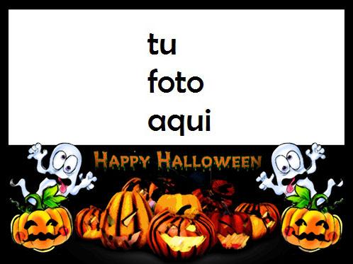 Calabaza Horrible Te Deseo Un Feliz Halloween Marco Para Foto - Calabaza Horrible Te Deseo Un Feliz Halloween Marco Para Foto