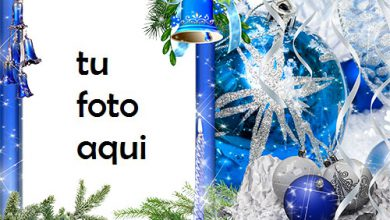 Campanas Azules Y Bola Azul Colgando En La Víspera De Año Nuevo Marco Para Foto 390x220 - Campanas Azules Y Bola Azul Colgando En La Víspera De Año Nuevo Marco Para Foto