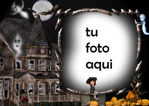 Casa Con Fantasmas Marco Para Foto - Casa Con Fantasmas Marco Para Foto