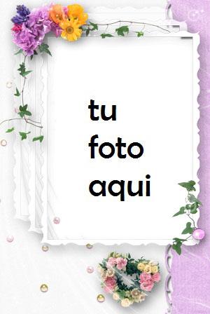Compromiso De Flores Y Matrimonio Marco Para Foto - Compromiso De Flores Y Matrimonio Marco Para Foto