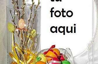 Con Los Huevos De Pascua Marco Para Foto 336x220 - Con Los Huevos De Pascua Marco Para Foto