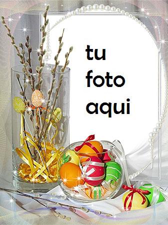 Con Los Huevos De Pascua Marco Para Foto - Con Los Huevos De Pascua Marco Para Foto