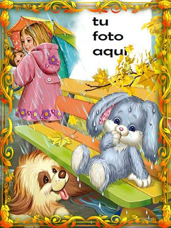 Conejito Y Perro Marcos Para Foto - Conejito Y Perro Marcos Para Foto