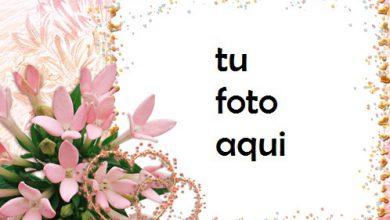 Photo of Corazones De Flores Románticas Marco Para Foto