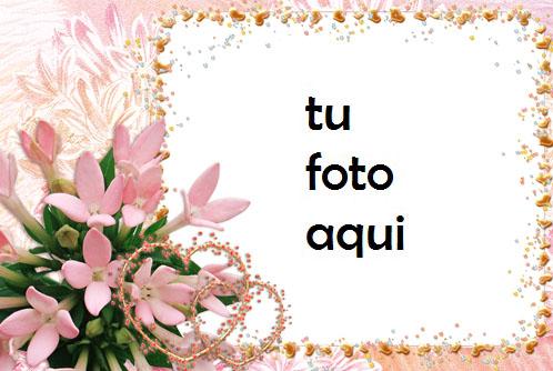 Corazones De Flores Románticas Marco Para Foto - Corazones De Flores Románticas Marco Para Foto