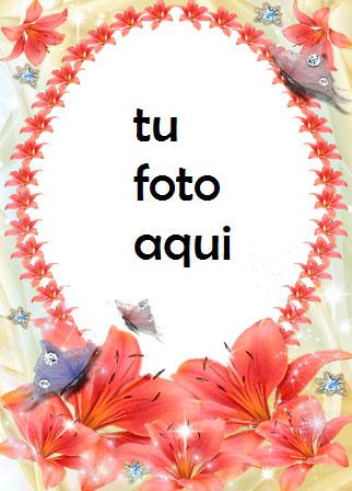 Corazones Y Flores Para San Valentín Marco Para Foto - Corazones Y Flores Para San Valentín Marco Para Foto