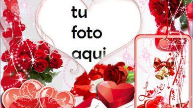 Corazones rojos de San Valentín Marco Para Foto 390x220 - Corazones rojos de San Valentín Marco Para Foto