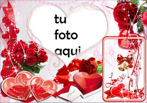 Corazones rojos de San Valentín Marco Para Foto - Corazones rojos de San Valentín Marco Para Foto