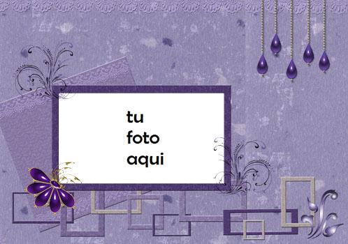Cuadrados Violetas Marco Para Foto - Cuadrados Violetas Marco Para Foto