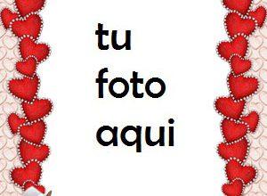 Photo of Delgados Corazones Rojos Para El Día De San Valentín Marco Para Foto