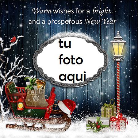 Deseos Cálidos Para Un Año Nuevo Marco Para Foto - Deseos Cálidos Para Un Año Nuevo Marco Para Foto