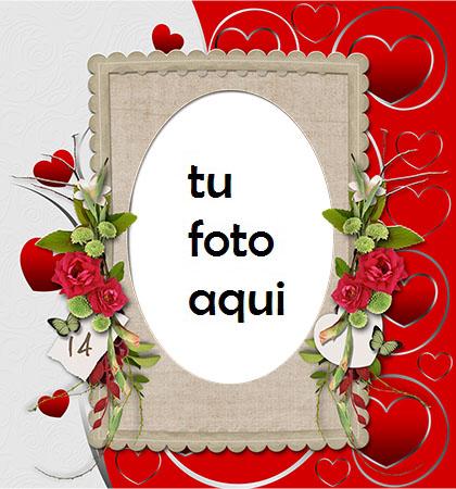 El Día De San Valentín Más Hermoso Con La Persona Que Amas Marco Para Foto - El Día De San Valentín Más Hermoso Con La Persona Que Amas Marco Para Foto