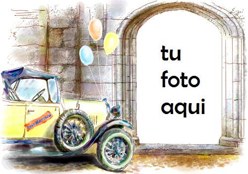 El Matrimonio Del Coche Marco Para Foto - El Matrimonio Del Coche Marco Para Foto