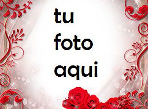 Photo of El corazón rojo de rosas es muy hermoso Marco Para Foto