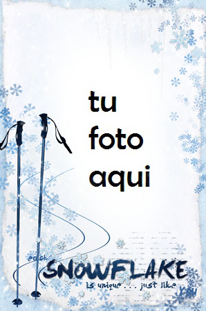 Eres Único Como Un Copo De Nieve Marco Para Foto - Eres Único Como Un Copo De Nieve Marco Para Foto