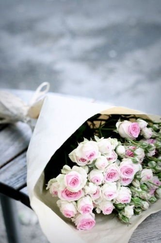 Escribir En Foto Cuadro del ramo blanco romántico 1 - Escribir En Foto Cuadro del ramo blanco romántico