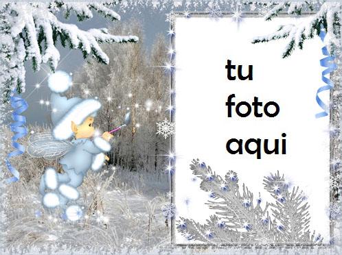 Fantasía De Invierno Marco Para Foto - Fantasía De Invierno Marco Para Foto