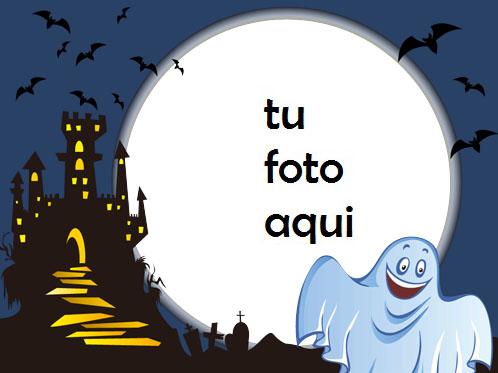 Fantasma De Halloween Sonriente Marco Para Foto - Fantasma De Halloween Sonriente Marco Para Foto