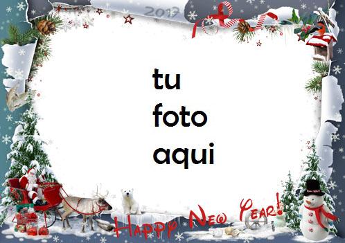 Feliz Año Nuevo Comienzo Marco Para Foto - Feliz Año Nuevo Comienzo Marco Para Foto