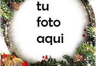 Photo of Feliz Año Nuevo Con Una Decoración Maravillosa. Marco Para Foto