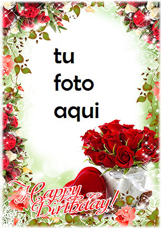 Feliz Cumpleaños Romántico 2 Marco Para Foto - Feliz Cumpleaños Romántico 2 Marco Para Foto