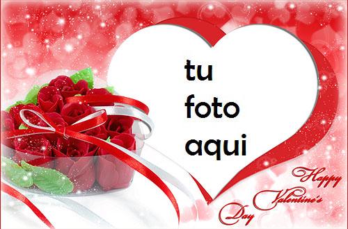 Flores De San Valentín Marco Para Foto - Flores De San Valentín Marco Para Foto