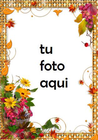 Flores Doradas Marco Para Foto - Flores Doradas Marco Para Foto